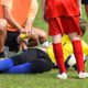 Youth sports injury on field