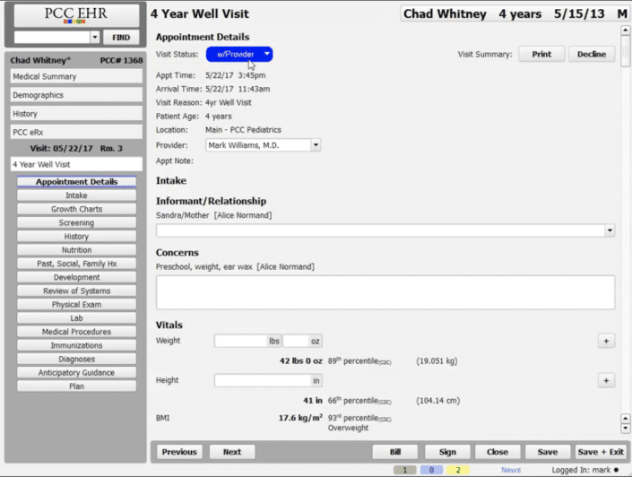 Chart a Visit in 5 Minutes with PCC EHR